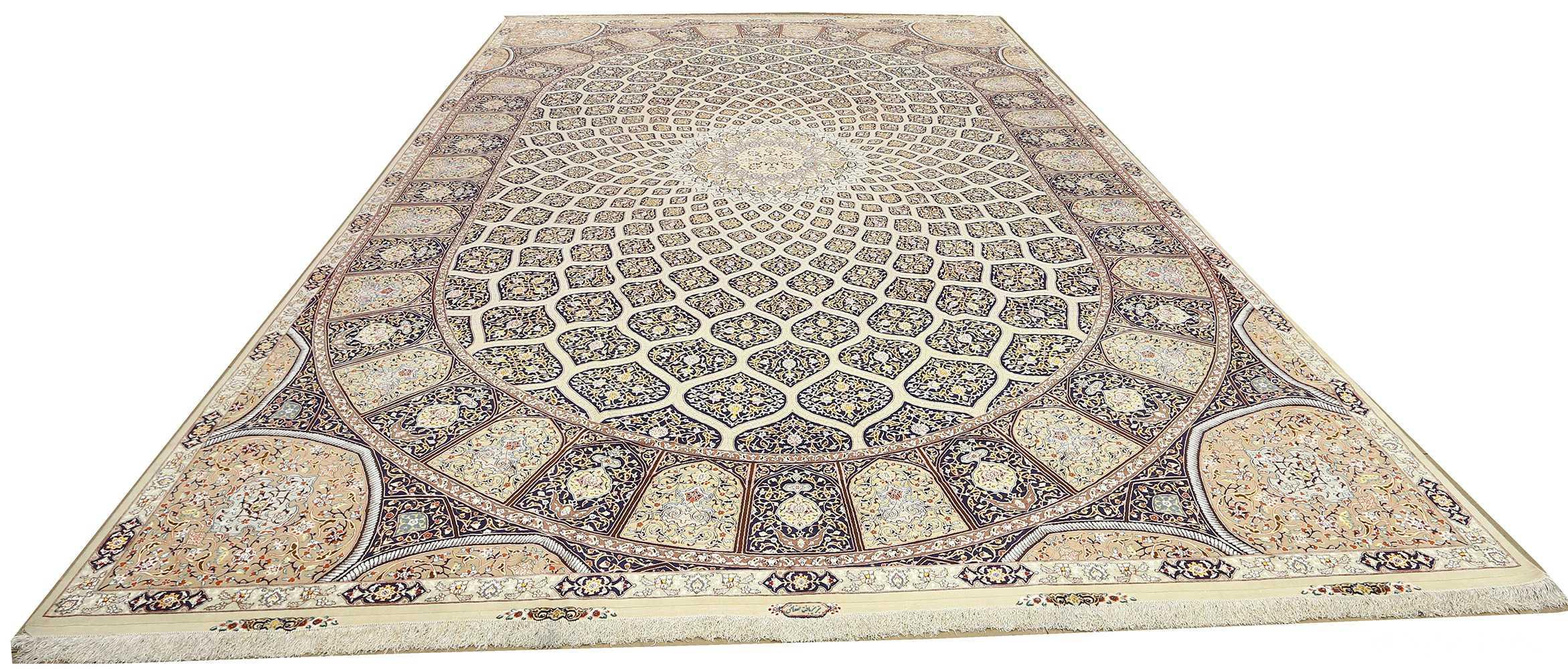 large geometric vintage tabriz persian rug 51119 whole Nazmiyal