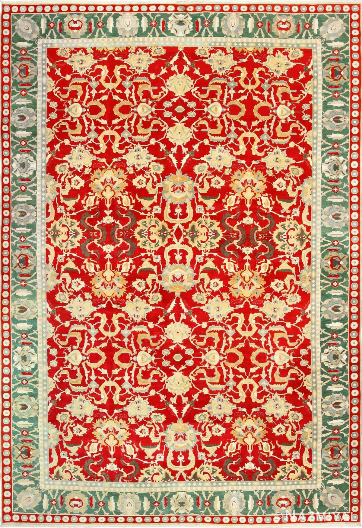 large red antique agra indian rug 49304 Nazmiyal