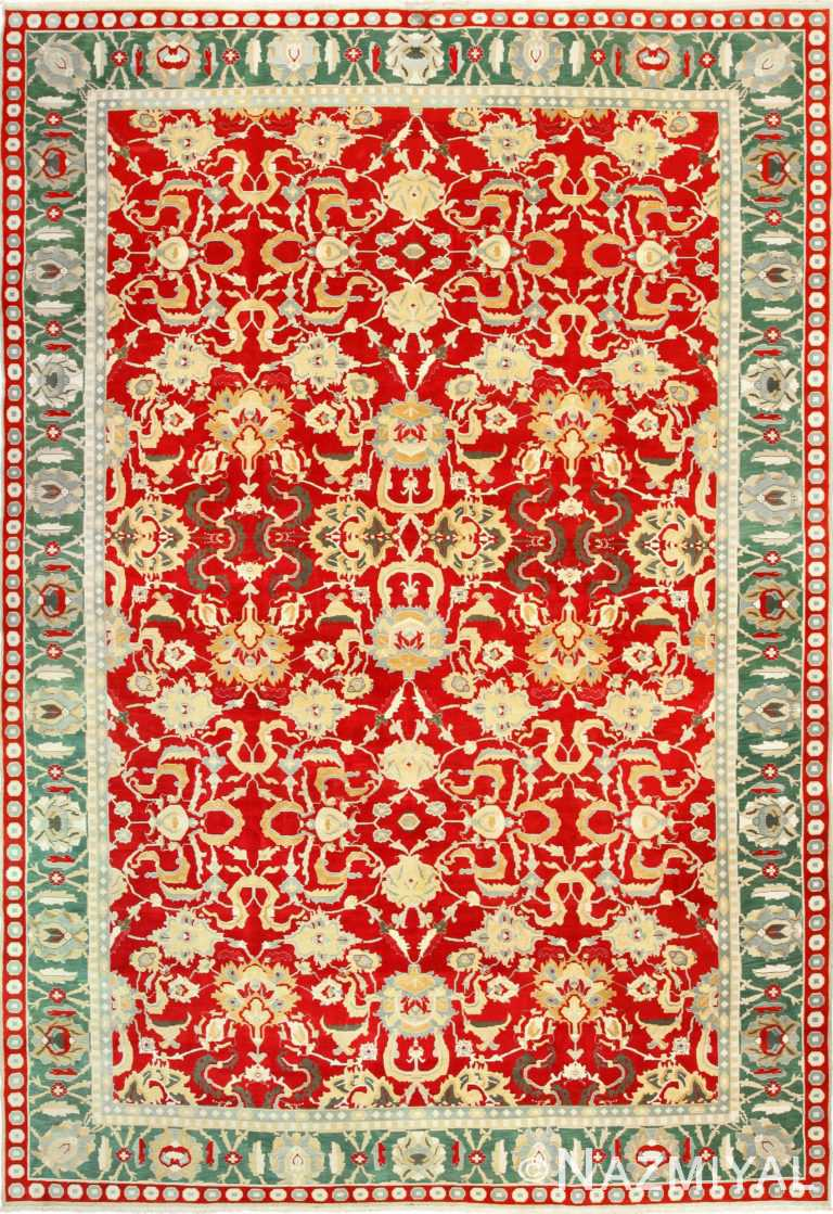 large red antique agra indian rug 49304 Nazmiyal