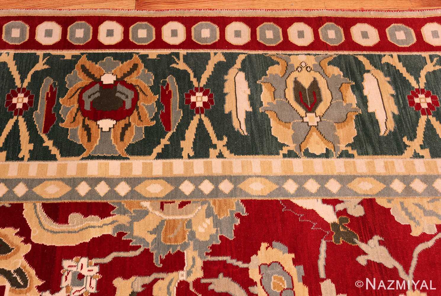 large red antique agra indian rug 49304 border Nazmiyal