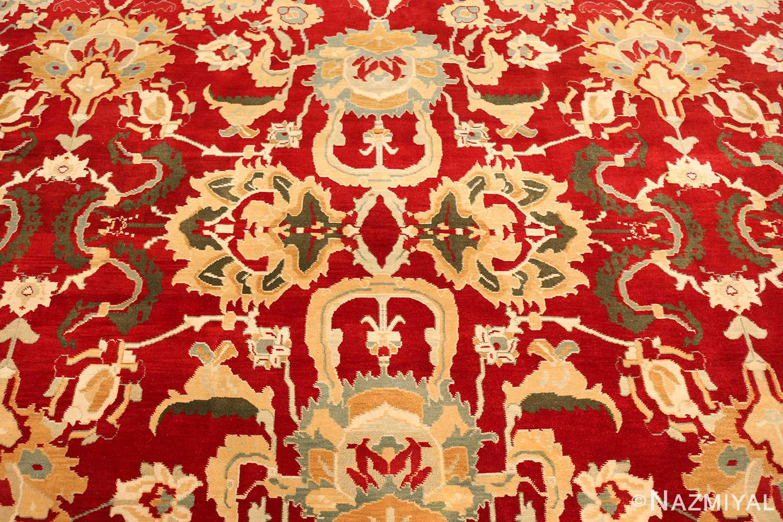 large red antique agra indian rug 49304 center Nazmiyal