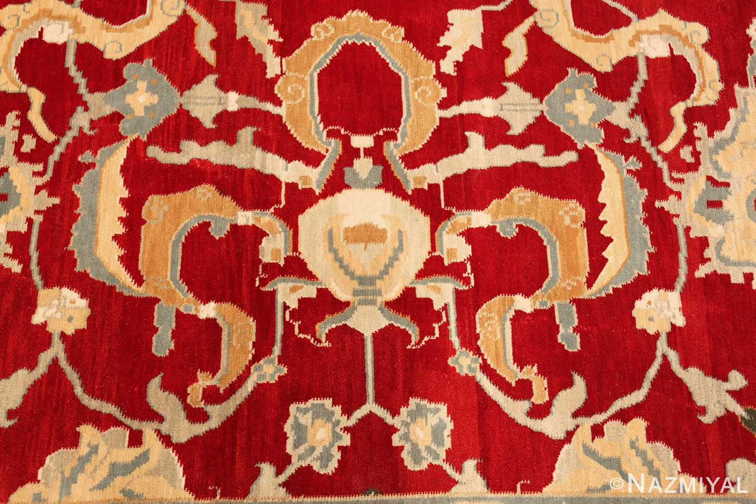 large red antique agra indian rug 49304 cup Nazmiyal