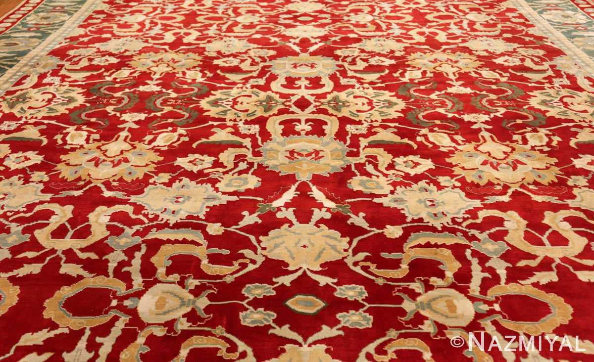 large red antique agra indian rug 49304 field Nazmiyal