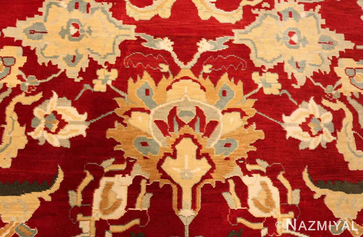large red antique agra indian rug 49304 fire Nazmiyal