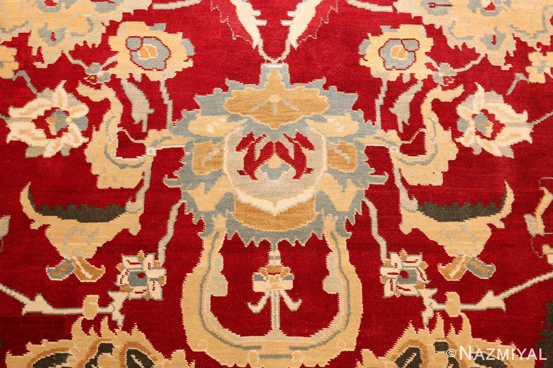 large red antique agra indian rug 49304 horseshoe Nazmiyal