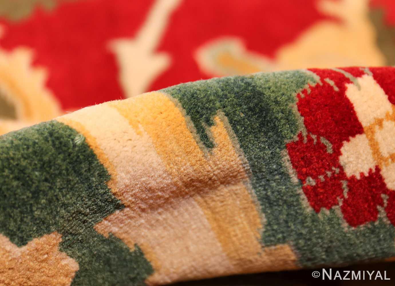 large red antique agra indian rug 49304 pile Nazmiyal