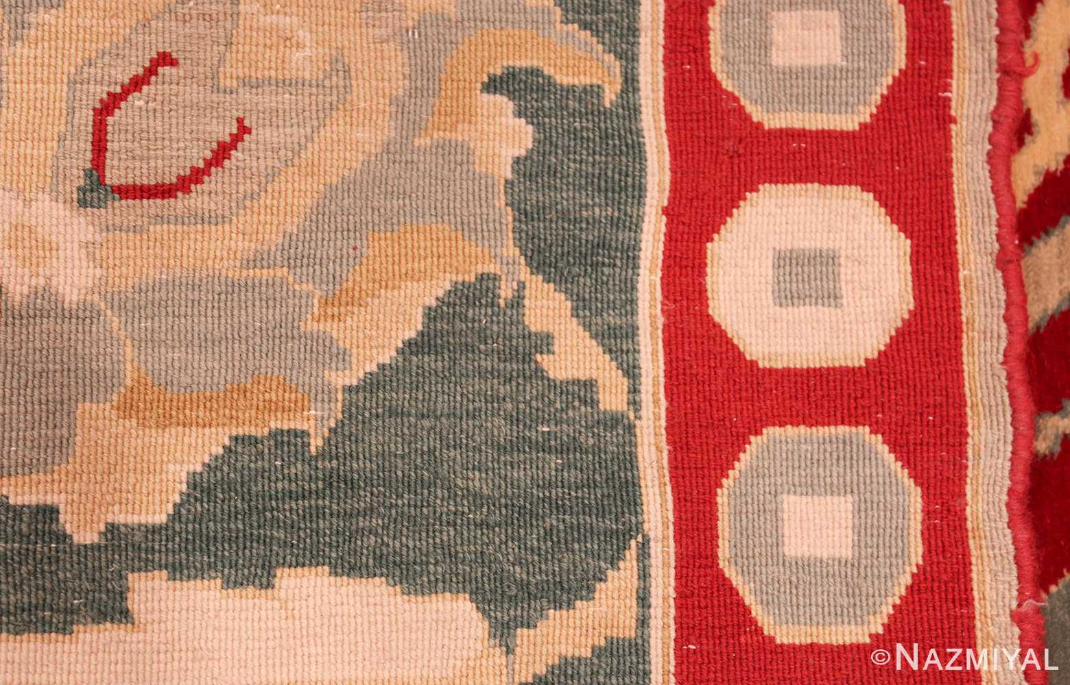 large red antique agra indian rug 49304 weave Nazmiyal