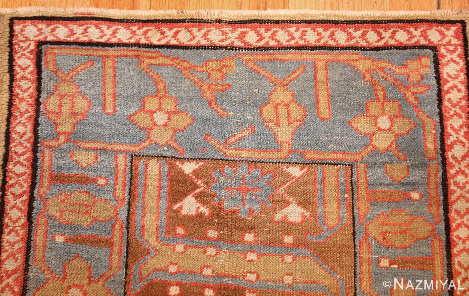 long antique bakshaish persian rug runner 49278 blue Nazmiyal