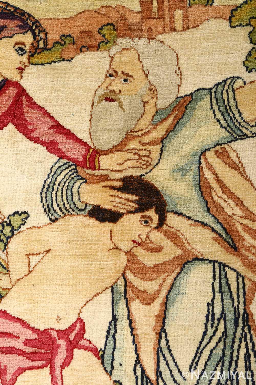 pair of antique biblical kerman persian rug 51173 ismael vertical Nazmiyal