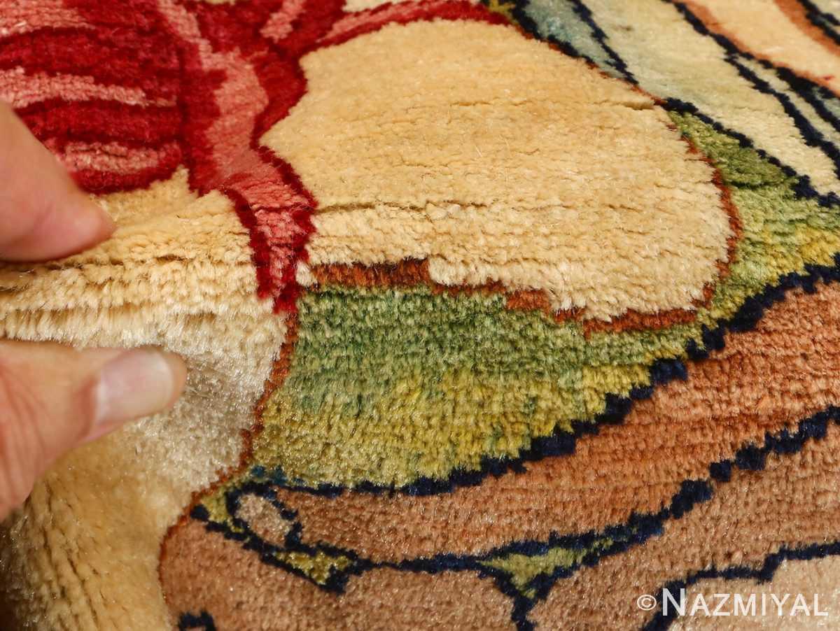 pair of antique biblical kerman persian rug 51173 pile Nazmiyal
