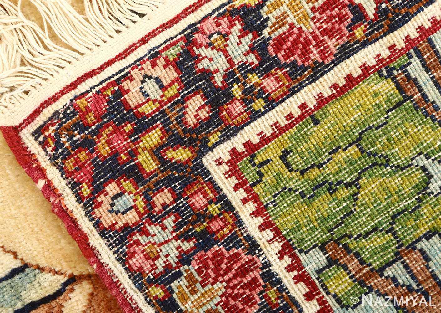 pair of antique biblical kerman persian rug 51173 weave Nazmiyal