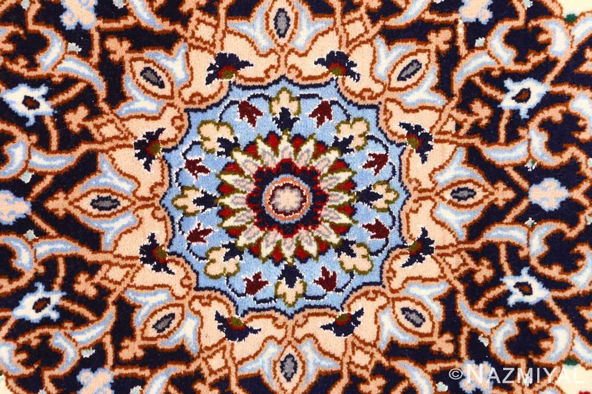 red background vintage isfahan peresian rug 51147 center Nazmiyal