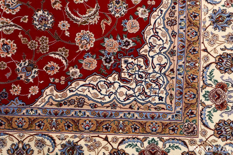 red background vintage isfahan peresian rug 51147 design Nazmiyal