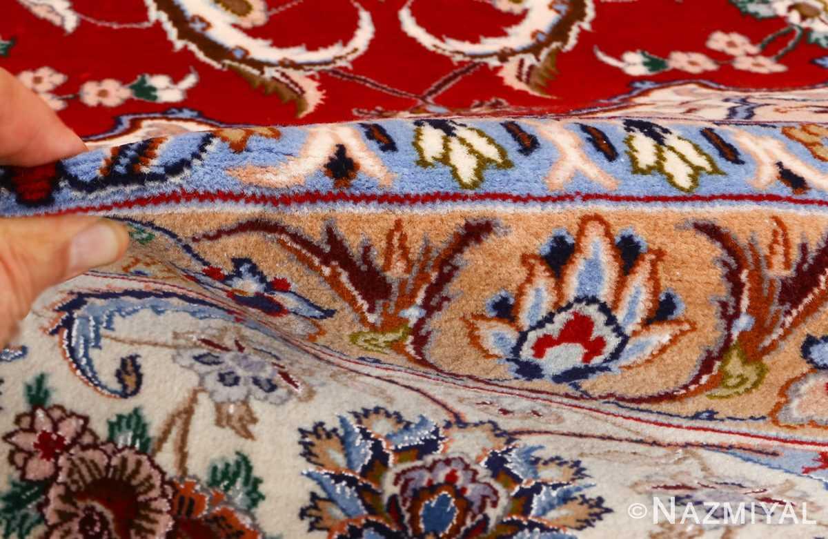 red background vintage isfahan peresian rug 51147 pile Nazmiyal