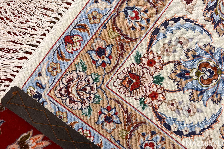 red background vintage isfahan peresian rug 51147 weave Nazmiyal