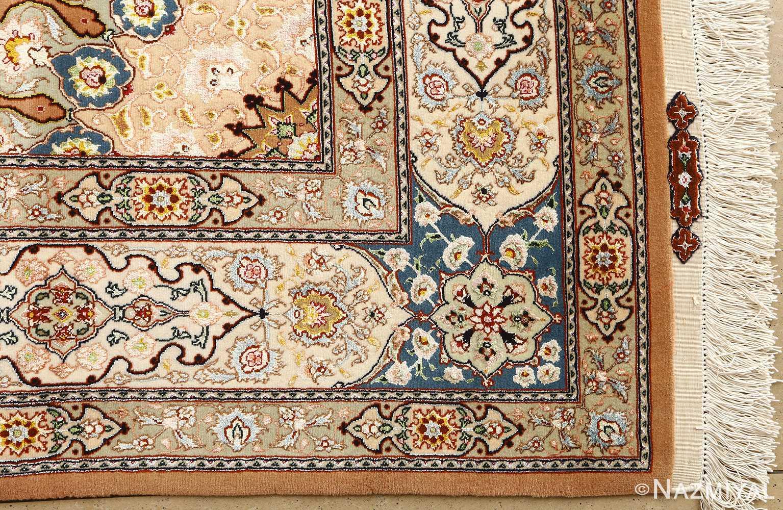 shahsavarpour design vintage tabriz persian rug 51158 corner Nazmiyal