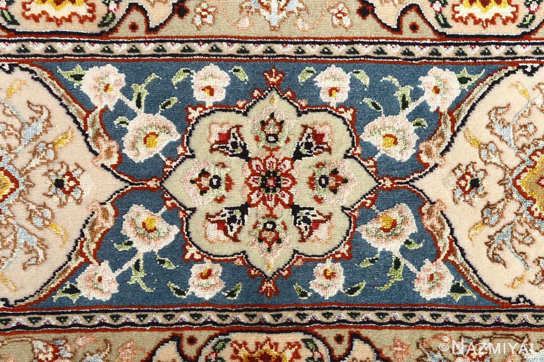 shahsavarpour design vintage tabriz persian rug 51158 flower Nazmiyal