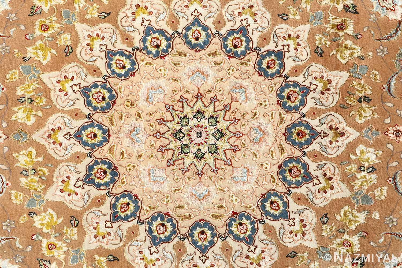 shahsavarpour design vintage tabriz persian rug 51158 medallion Nazmiyal