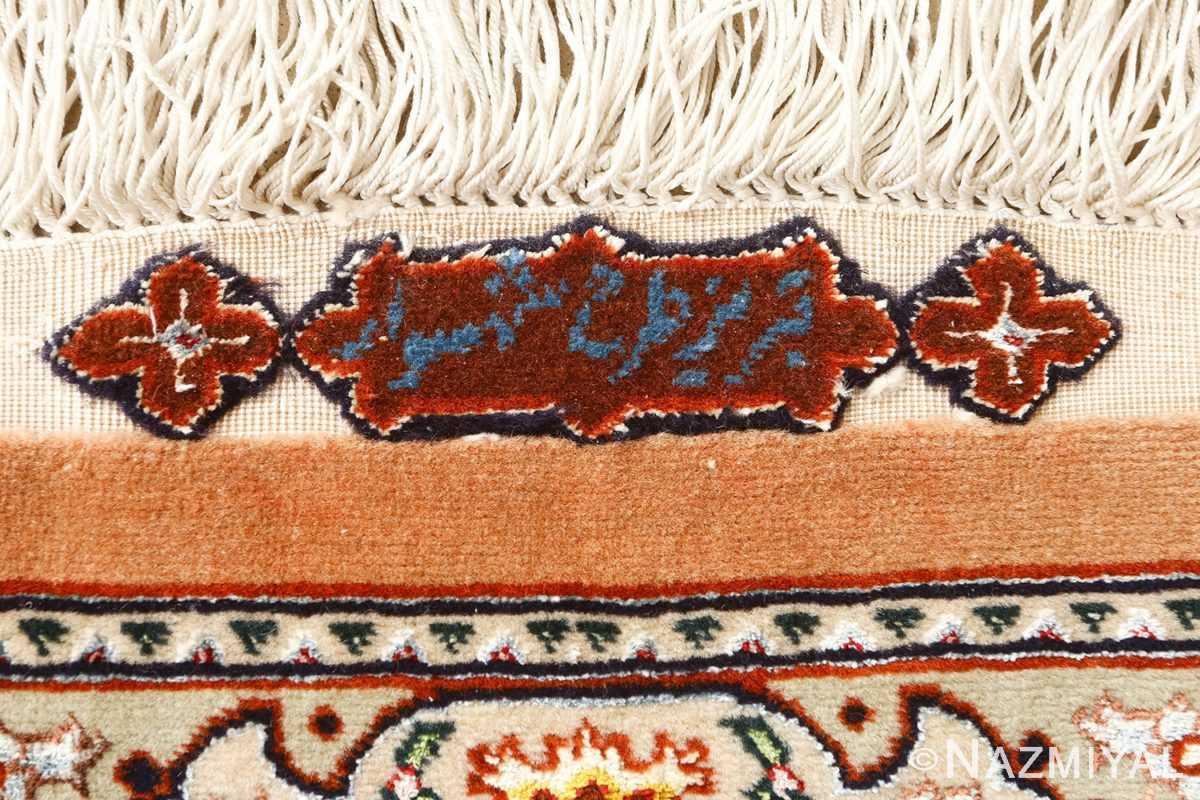 shahsavarpou design vintage tabriz persian rug 51158 signature Nazmiyal