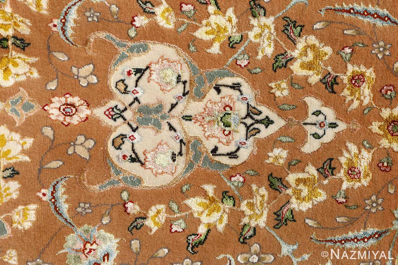 shahsavarpour design vintage tabriz persian rug 51158 white Nazmiyal