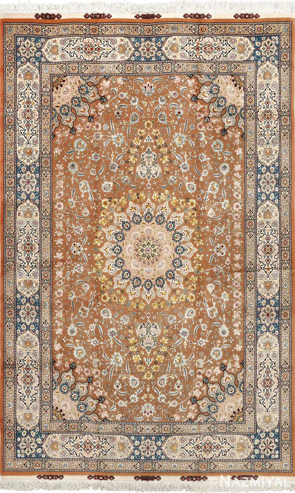 shahsavarpour design vintage tabriz persian rug 51158 Nazmiyal