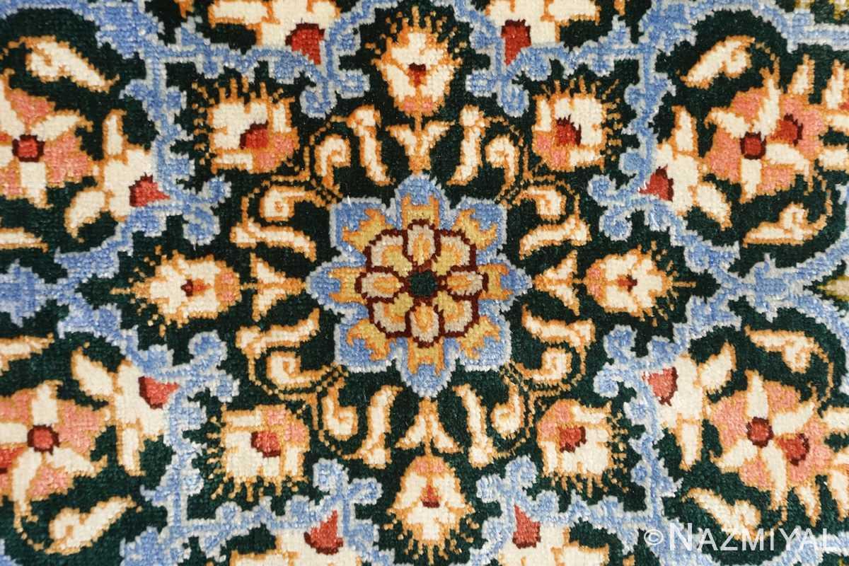 silk vintage qum persian rug 51171 center Nazmiyal