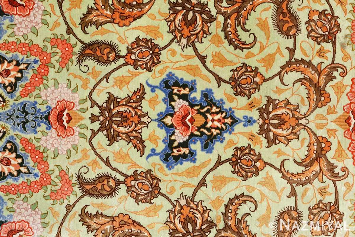 silk vintage qum persian rug 51171 tiara Nazmiyal