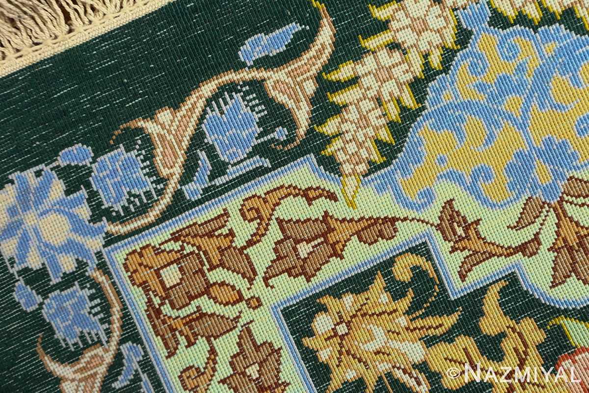 silk vintage qum persian rug 51171 weave Nazmiyal