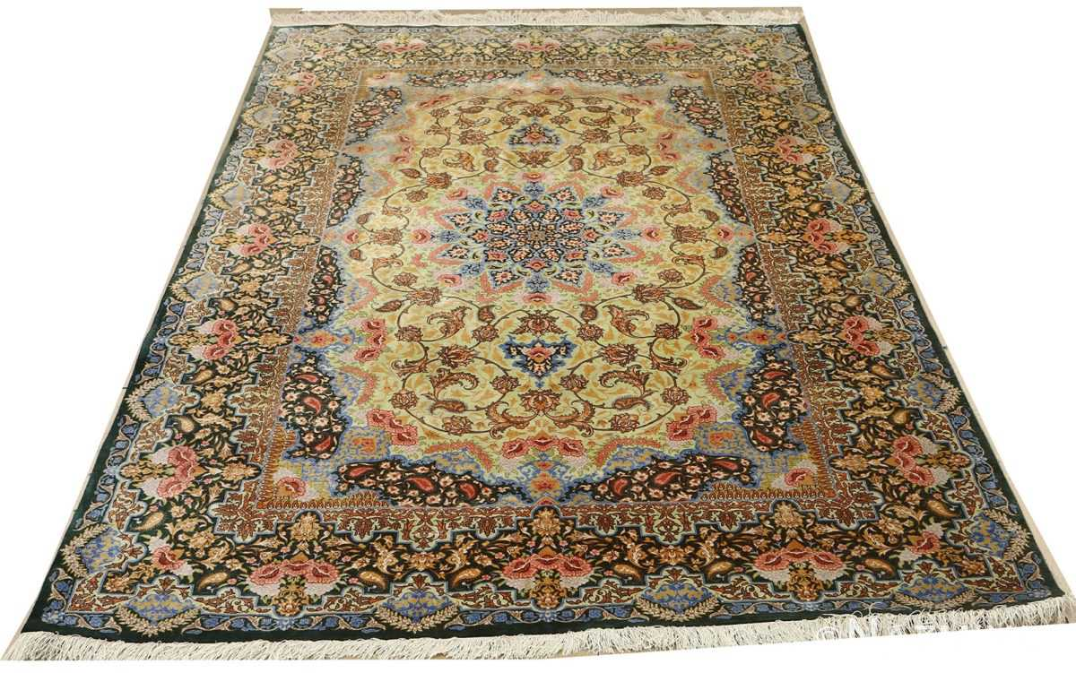 silk vintage qum persian rug 51171 whole Nazmiyal