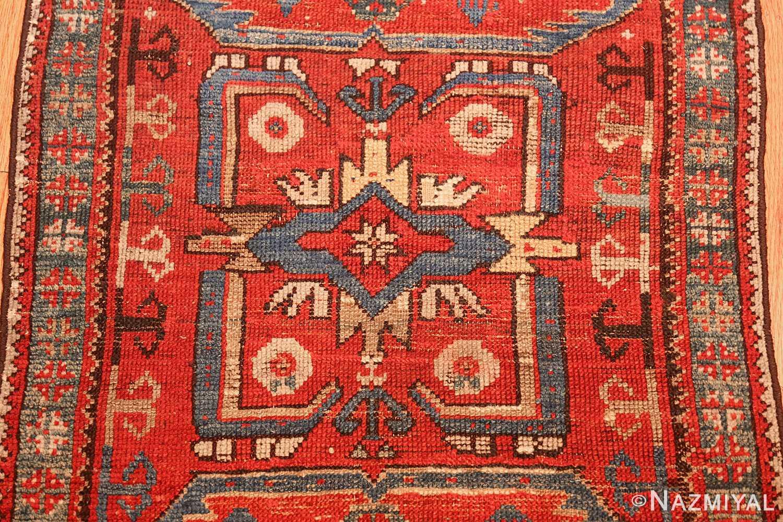 small geometric antique yastic turkish rug 48620 medallion Nazmiyal
