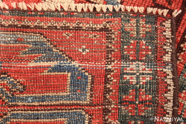 small geometric antique yastic turkish rug 48620 weave Nazmiyal