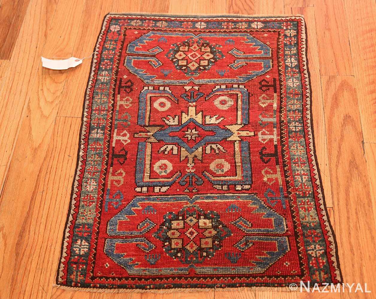 small geometric antique yastic turkish rug 48620 whole Nazmiyal