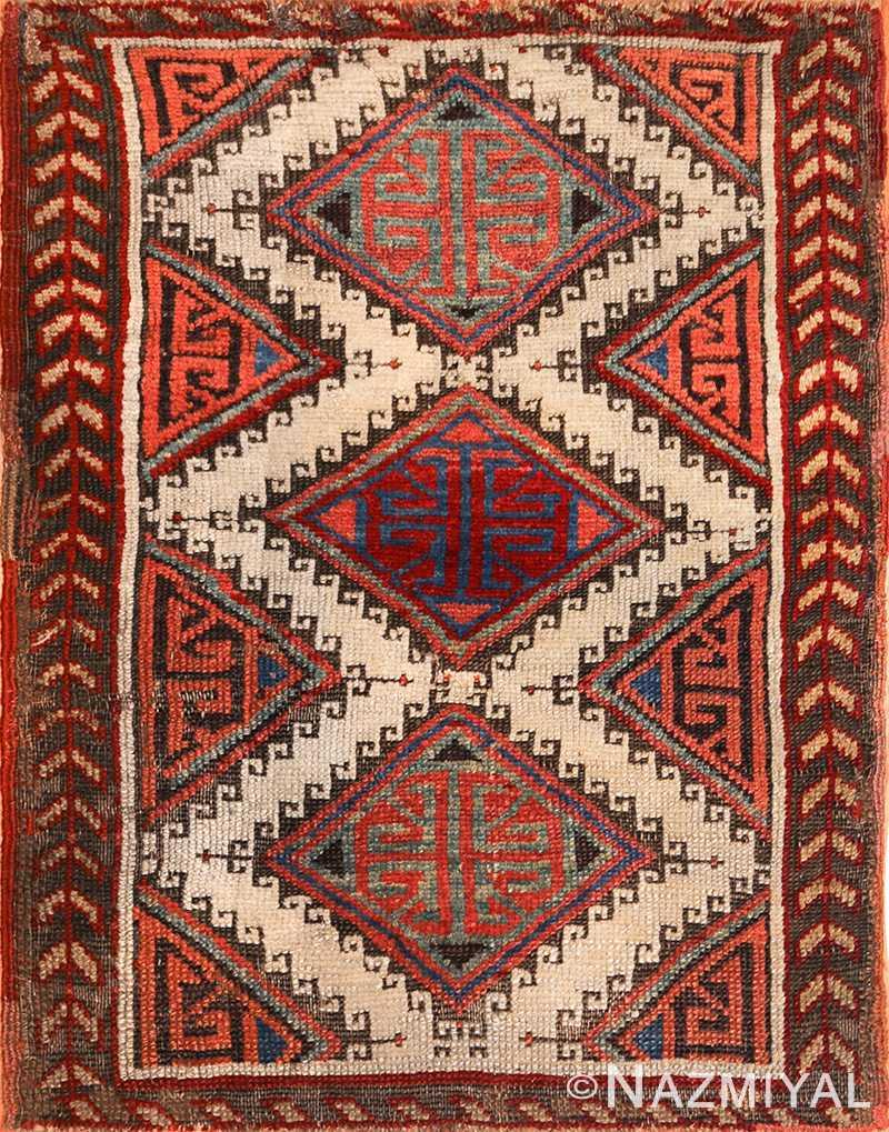 Tribal Turkish Bergama Rug 48608