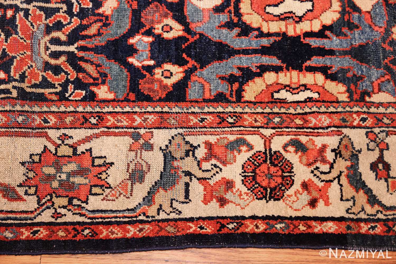 small size antique sultanabad persian rug 49301 border Nazmiyal