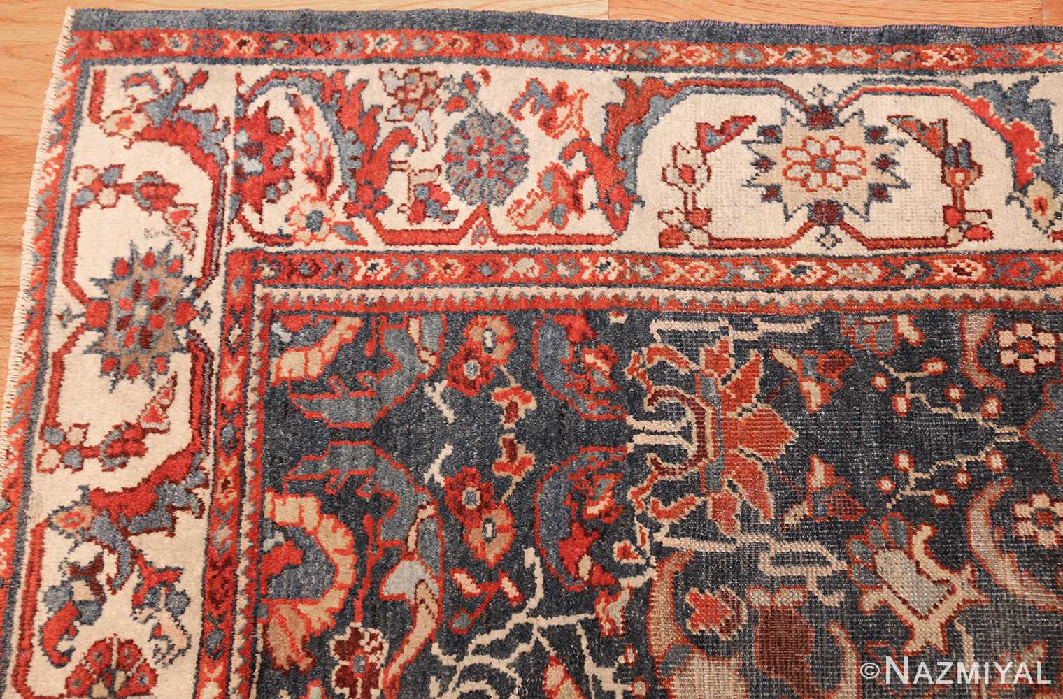 small size antique sultanabad persian rug 49301 corner Nazmiyal