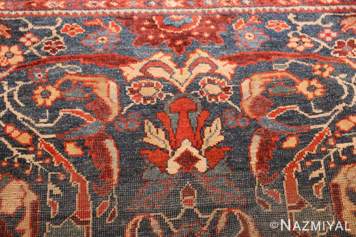 small size antique sultanabad persian rug 49301 design Nazmiyal