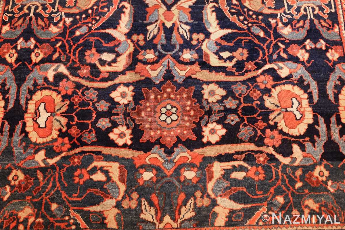 small size antique sultanabad persian rug 49301 flower Nazmiyal
