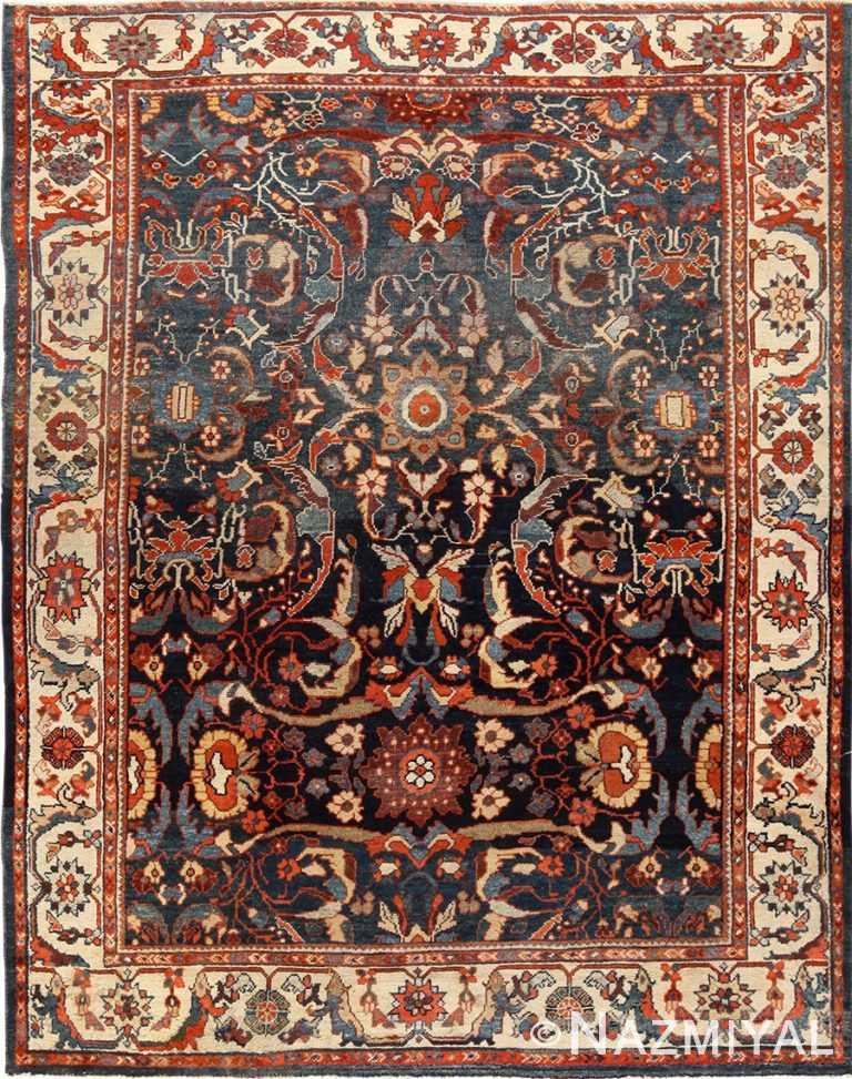 small size antique sultanabad persian rug 49301 Nazmiyal