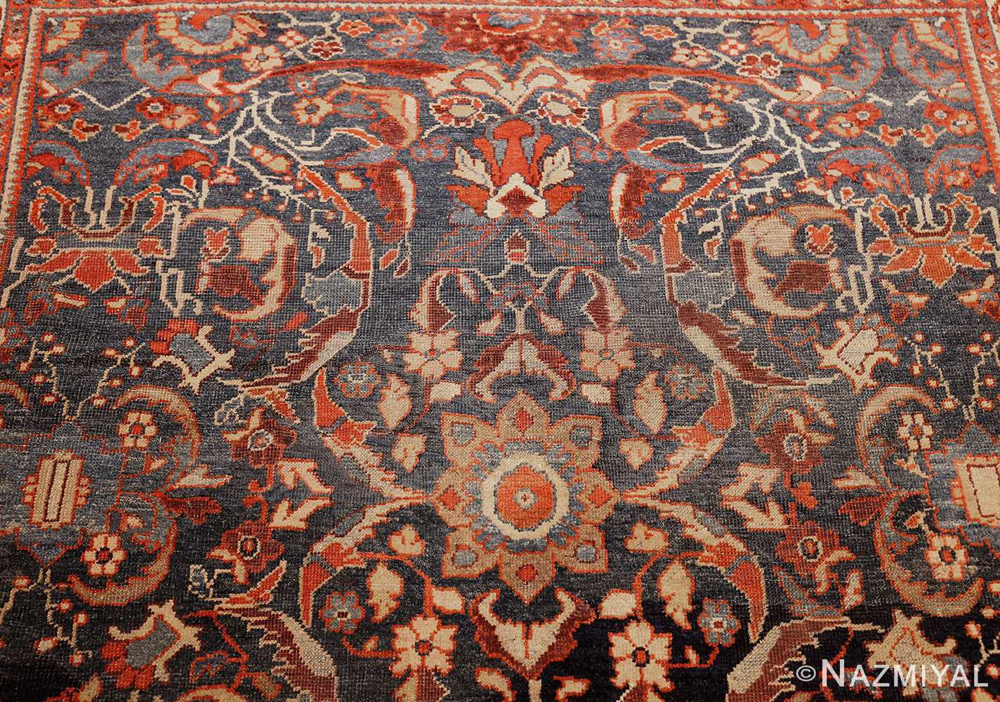 small size antique sultanabad persian rug 49301 top Nazmiyal