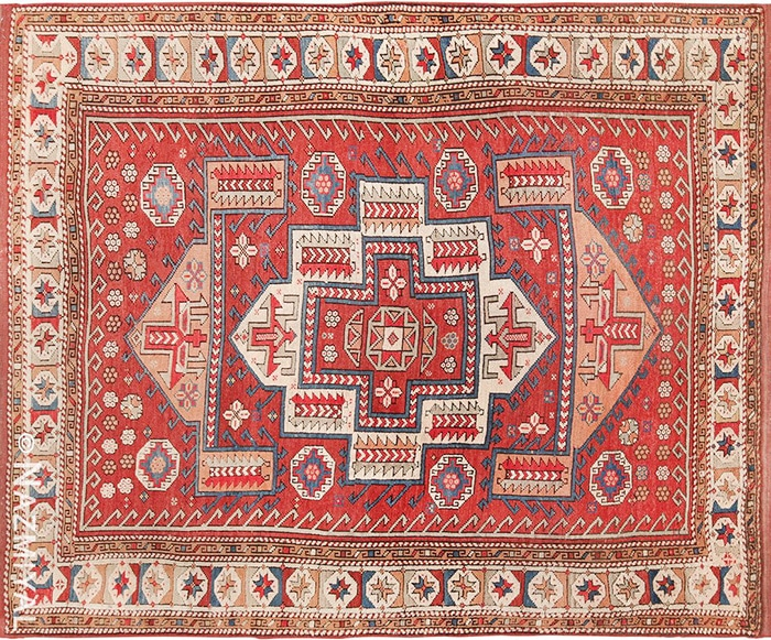 Small Tribal Antique West Anatolian Turkish Bergama Rug #49505 by nazmiyal
