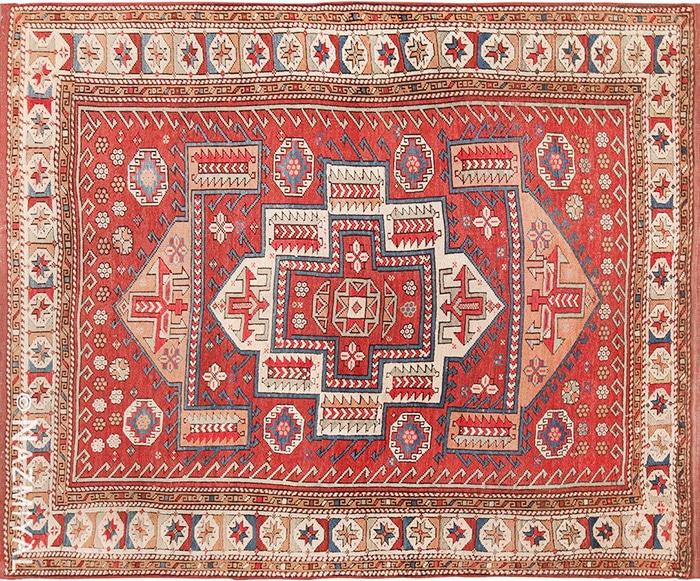 Small Tribal Antique West Anatolian Turkish Bergama Rug #49505 by nazmiyal