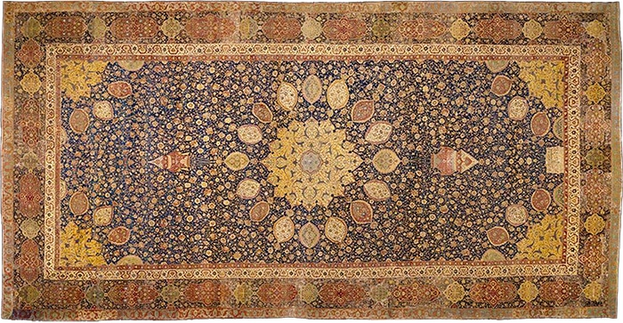 Victoria and Albert Museum Ardabil Carpet by Nazmiyal