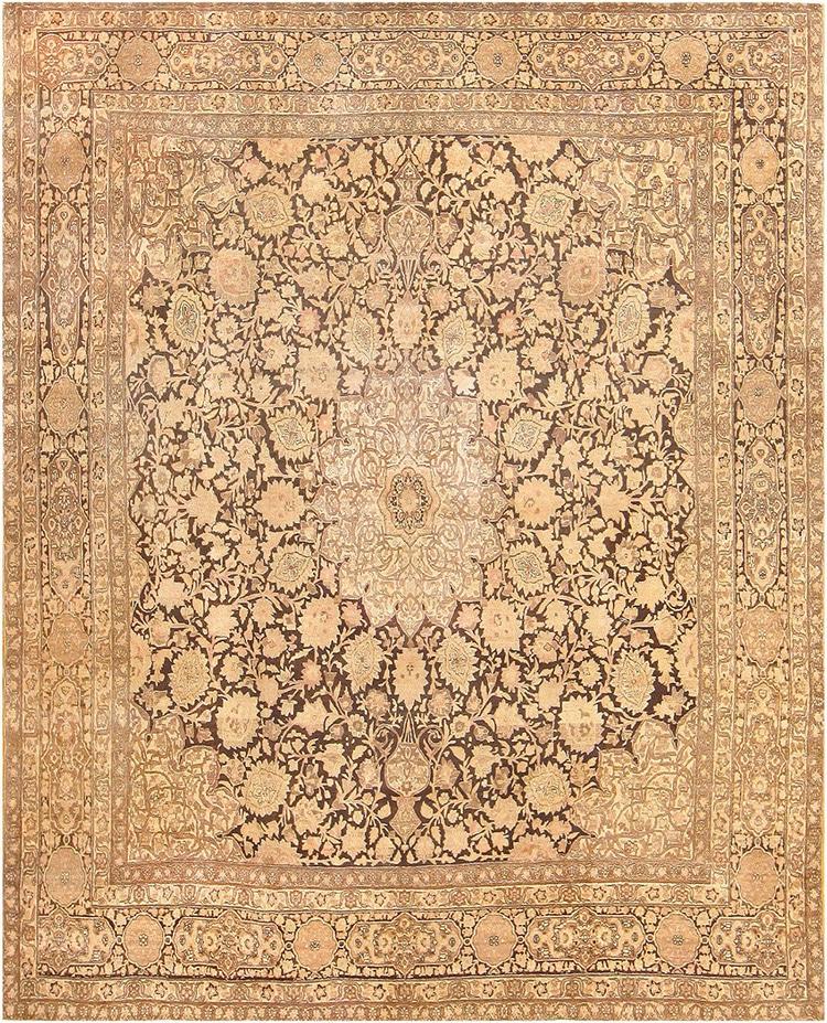 Ardabil Design Antique Persian Tabriz Rug by Nazmiyal