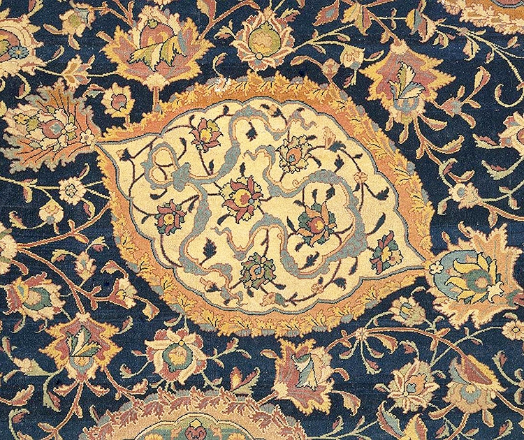 Detailed Picture Antique Persian Ardabil Carpet Nazmiyal