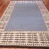 double sided vintage scandinavian kilim rug 49447 blue side Nazmiyal