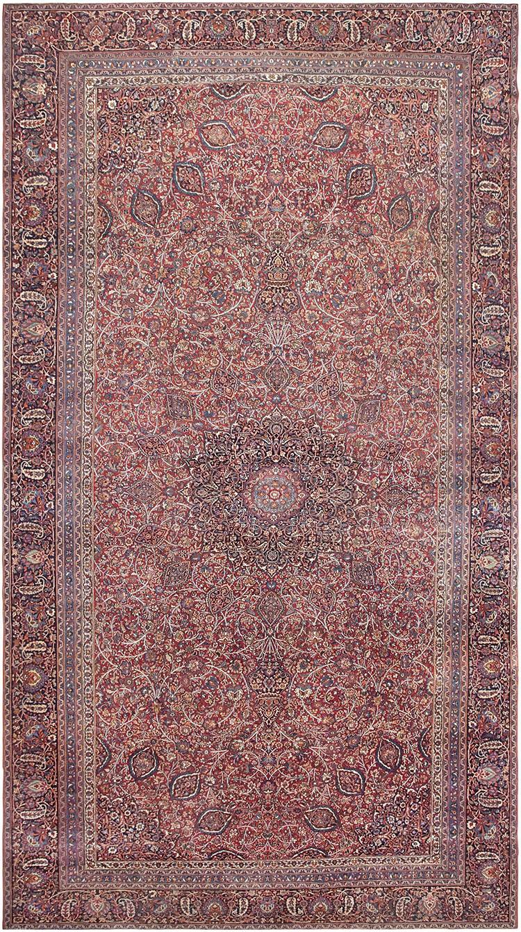Large Ardabil Design Persian Khorassan Rug by Nazmiyal