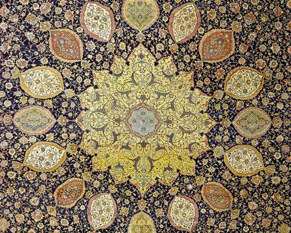 Central Medallion Design Of The Oldest Dated Carpet In The World Nazmiyal