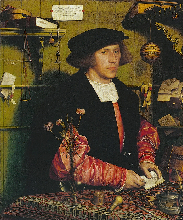 Portrait of Georg Gisze by Hans Holbein The Younger Nazmiyal
