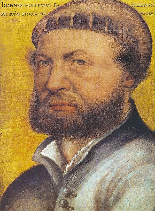 Self Portrait Of Hans Holbein The Younger Nazmiyal