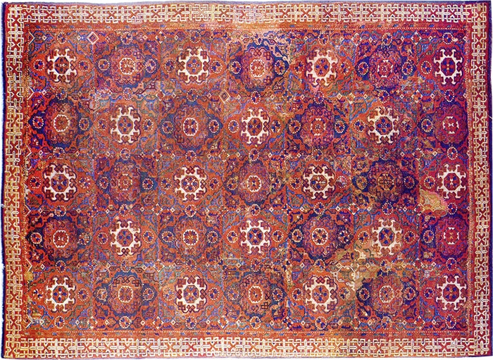 Small Pattern antique Holbein rugs by Nazmiyal